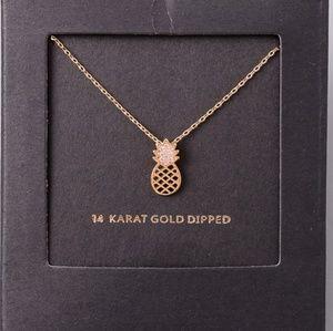 79baf2830b21 Jewelry - Dainty necklace pineapple pendant 14 karat gold